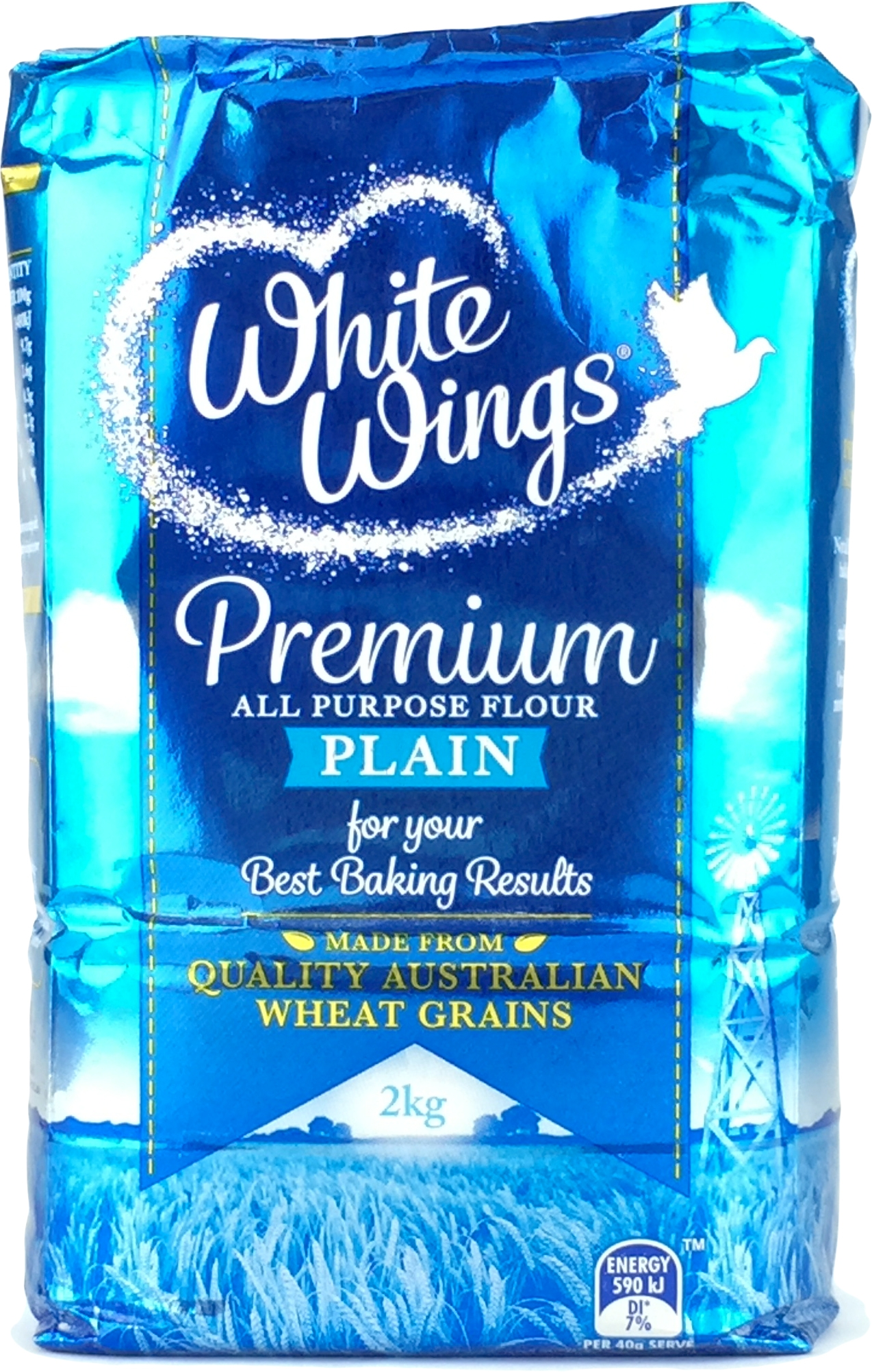 View White Wings Plain Flour 1kg Local Dry Goods